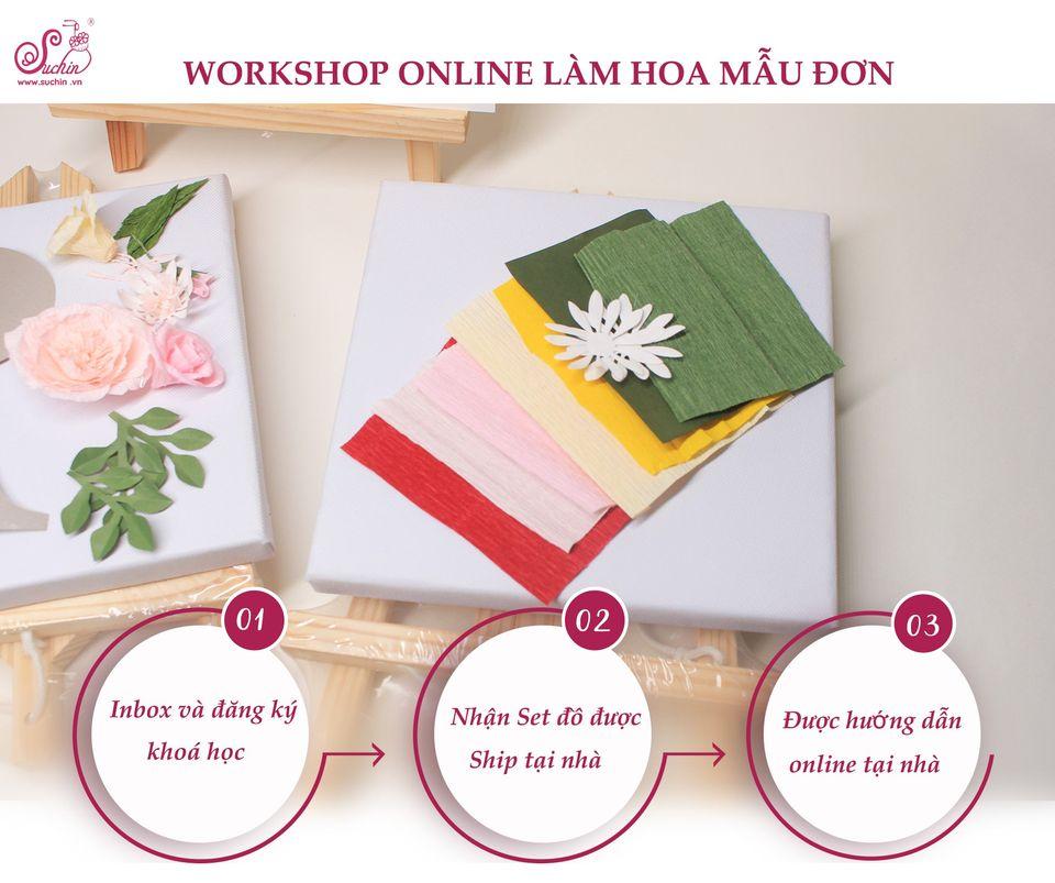 Khoá học làm hoa mẫu đơn handmade tại nhà cho những tín đồ yêu hoa