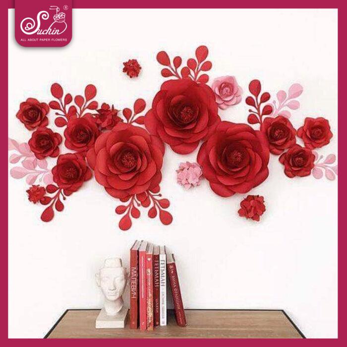 cụm hoa decor cửa hàng