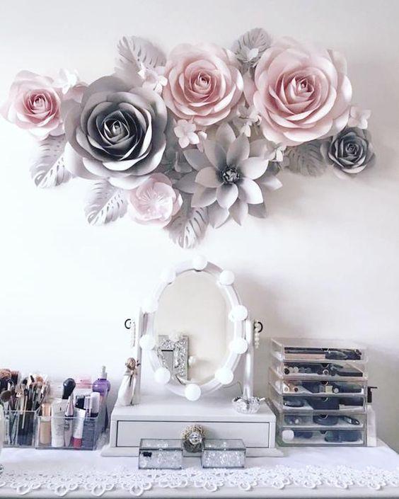 Bộ sưu tập mẫu hoa giấy trang trí tường cho ngôi nhà thêm nổi bật