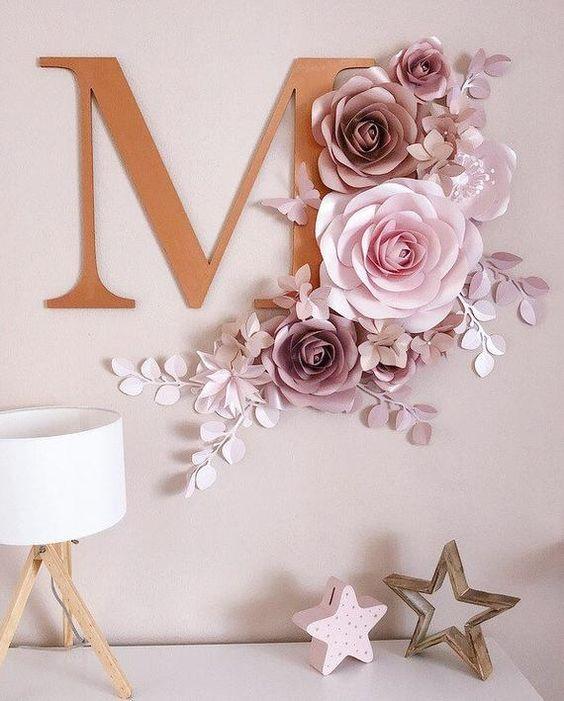 Hướng dẫn tự làm set hoa giấy trang trí tường siêu đẹp không nên bỏ lỡ