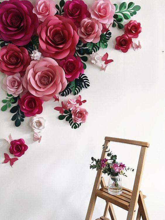 """Cùng cụm hoa giấy trang trí """"hô biến"""" căn nhà của bạn thêm xinh"""