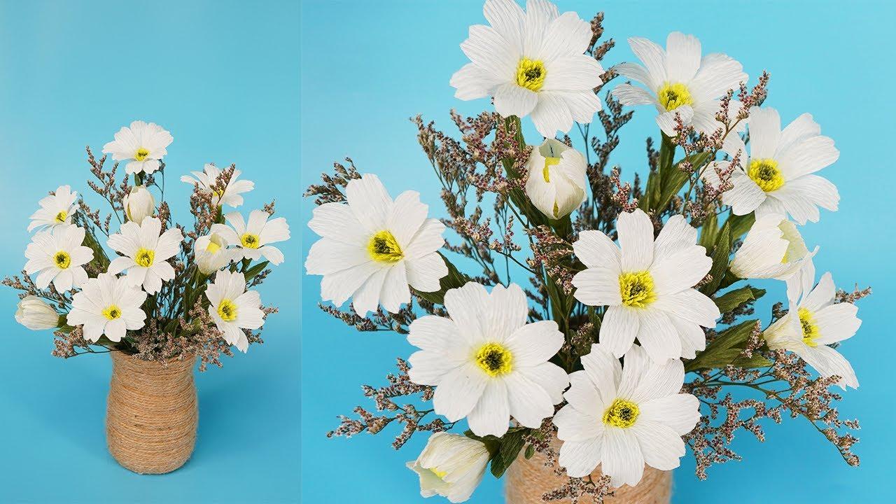 Cách làm hoa giấy trang trí đơn giản, dễ làm cho các cô nàng khéo tay