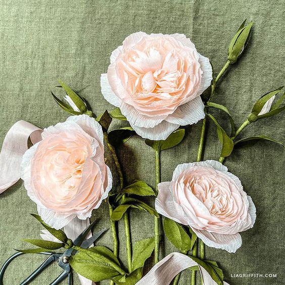 Hướng dẫn 2 cách làm hoa hồng juliet bằng giấy nhún