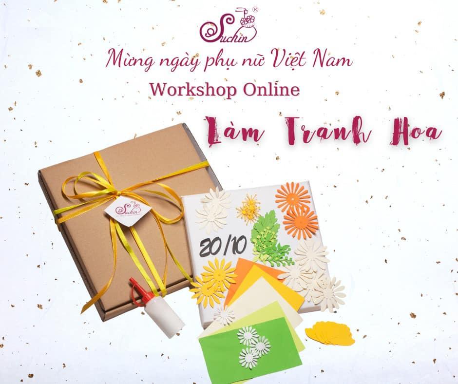 """Ra mắt workshop""""Tranh hoa quà tặng""""-trao gửi yêu thương đặc biệt"""